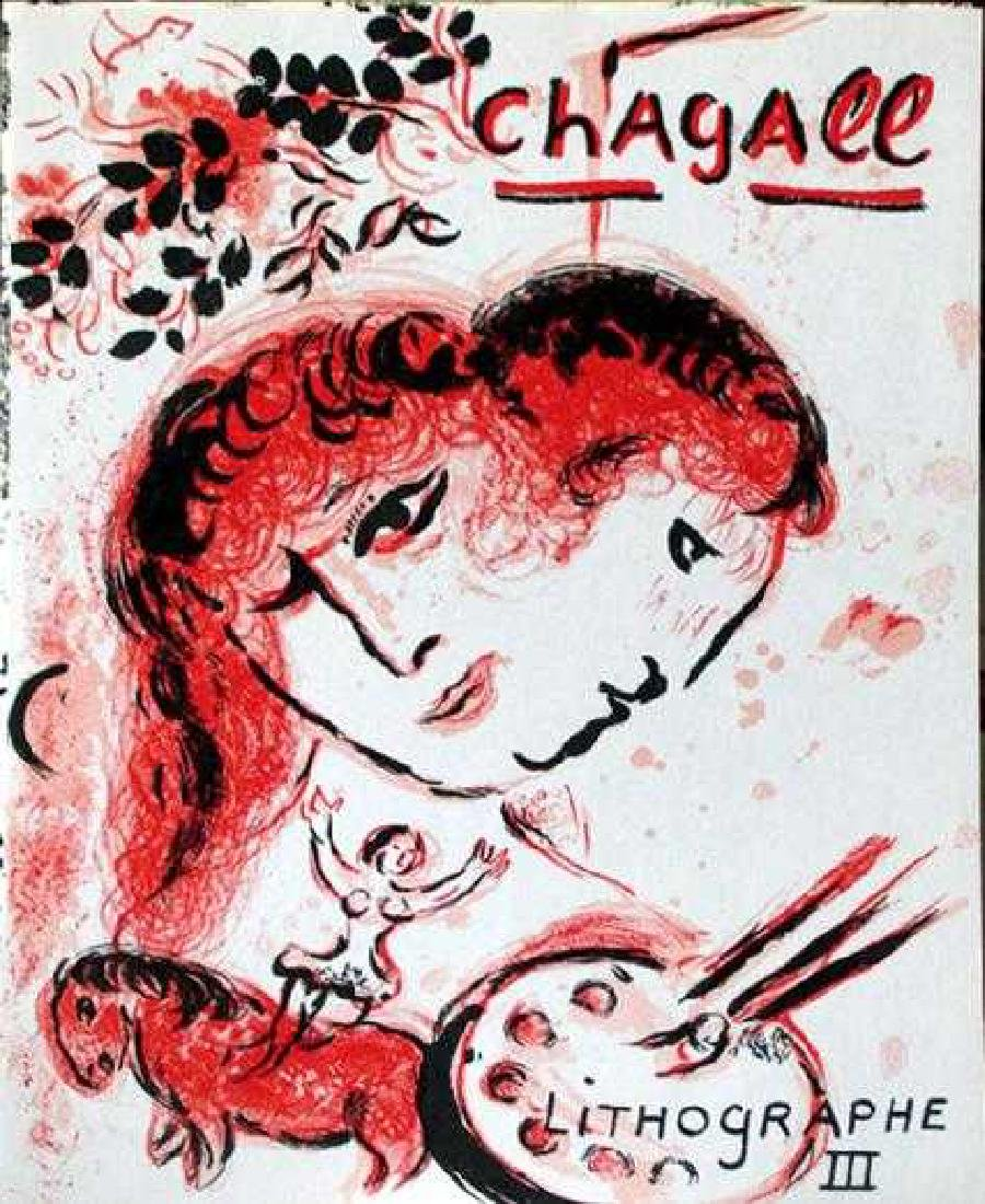 "Marc Chagall ""After"" Original Color Lithograph - 2"