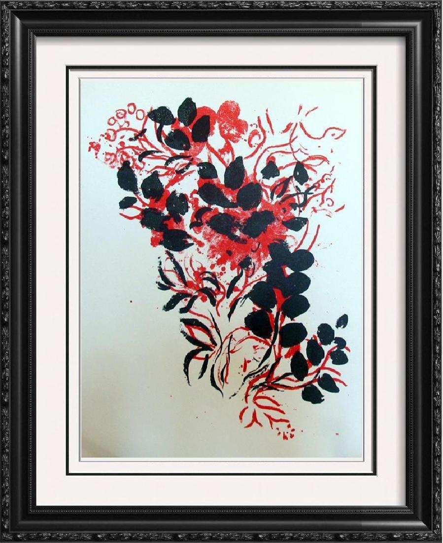 Bouquet Original Colored Lithograph Marc Chagall