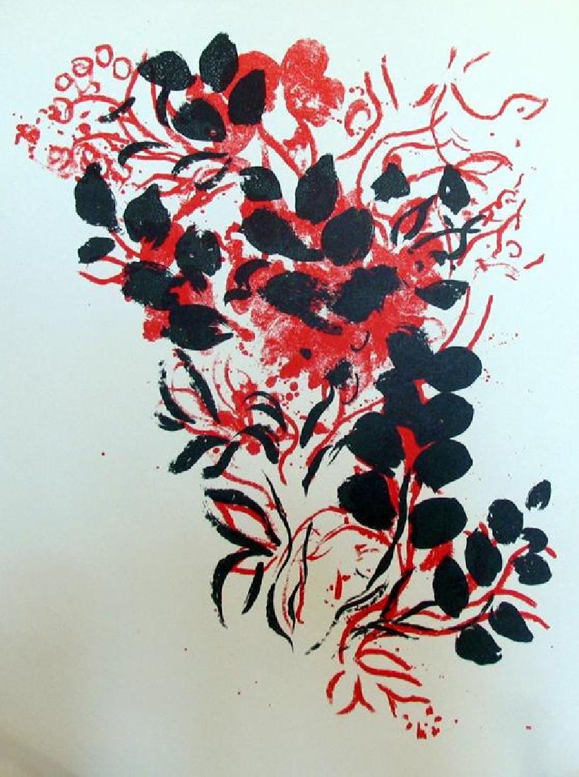 Bouquet Original Colored Lithograph Marc Chagall - 2