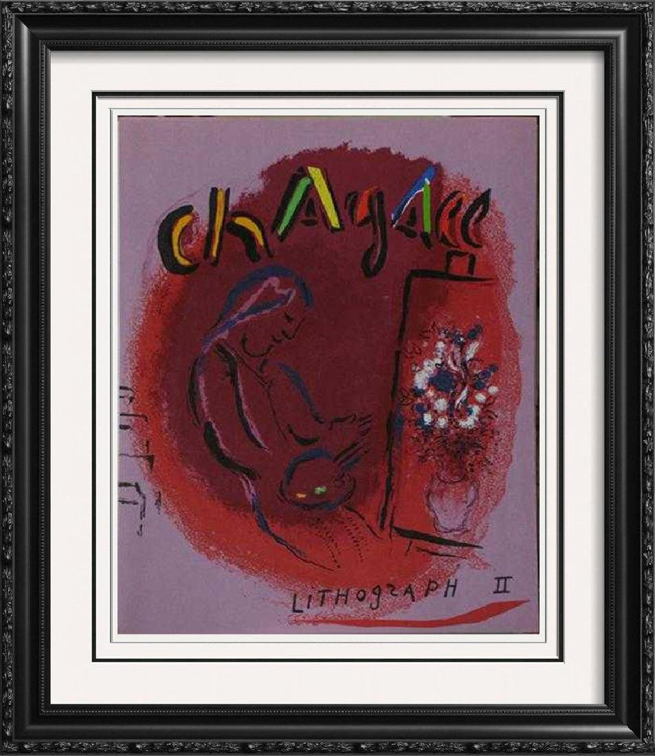 """Chagall """"After"""" Classic Colorful Original Lithograph"""