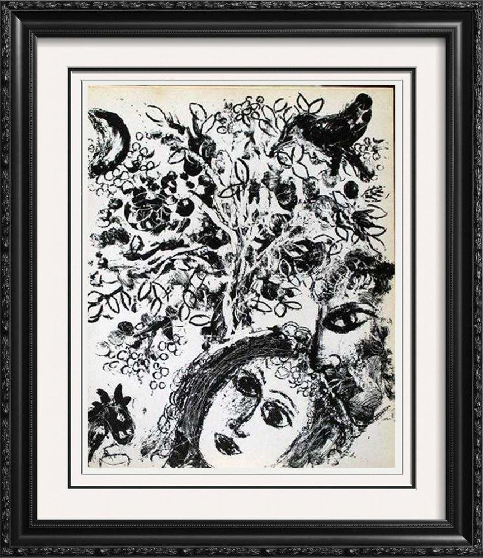 "Black & White Lithograph Marc Chagall ""After"" Museum"