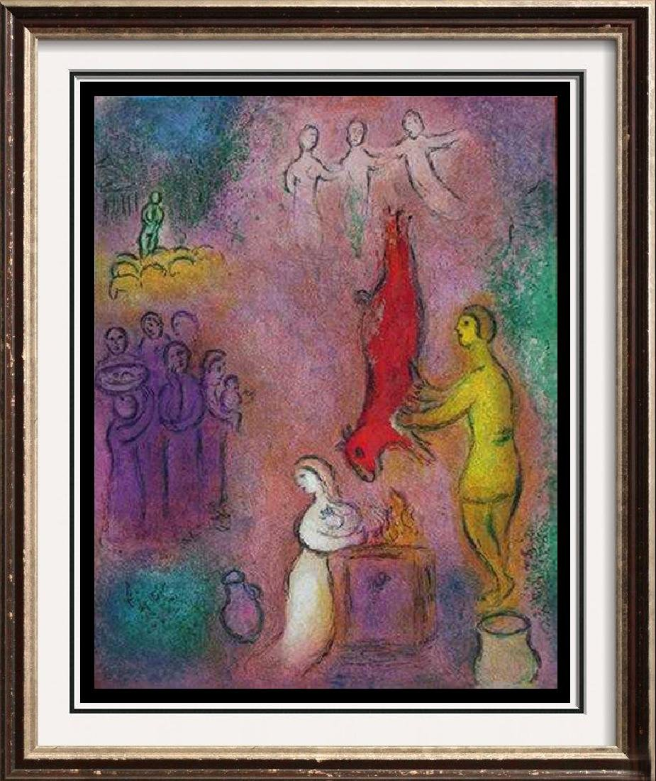 "Biblical Art Marc Chagall ""After"" Colorful Litho The"