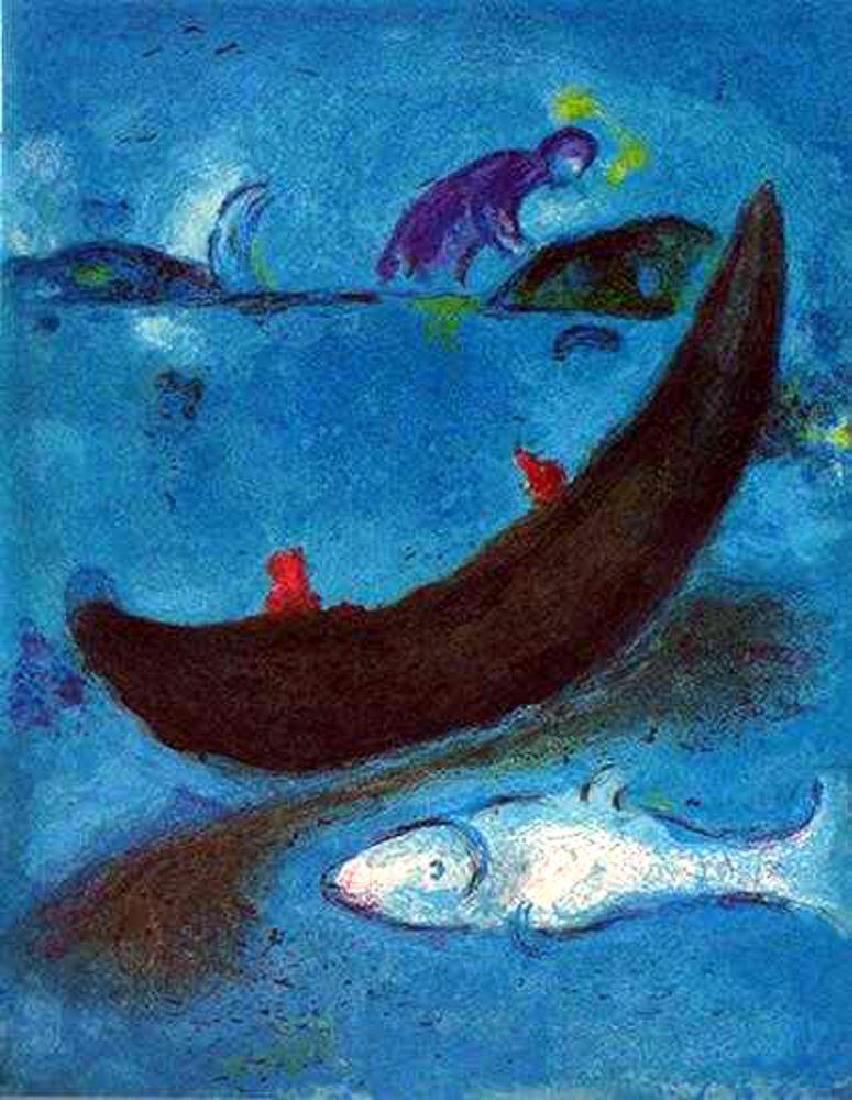 BIBLICAL MARC CHAGALL JONAH & THE WHALE ORIGINAL - 2