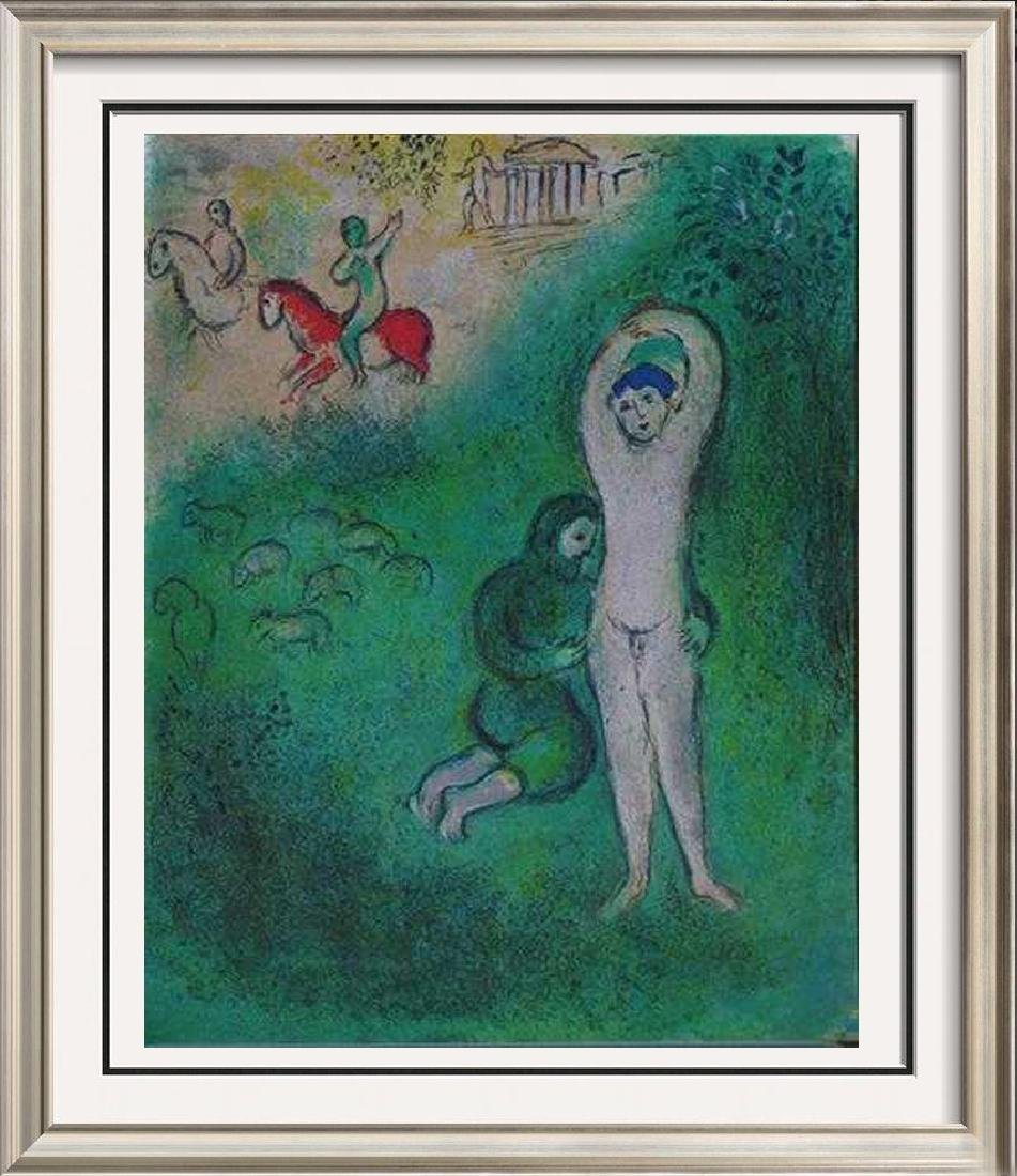 """Colorful Original Lithograph Marc Chagall """"After"""" Rare"""