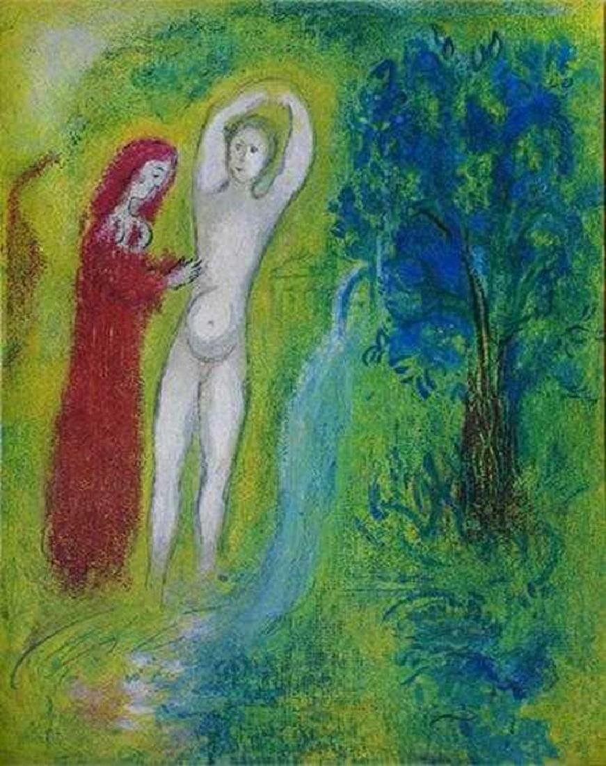 MARC CHAGALL HUGE DISCOUNT FANTASTIC COLORED LITHOGRAPH - 2