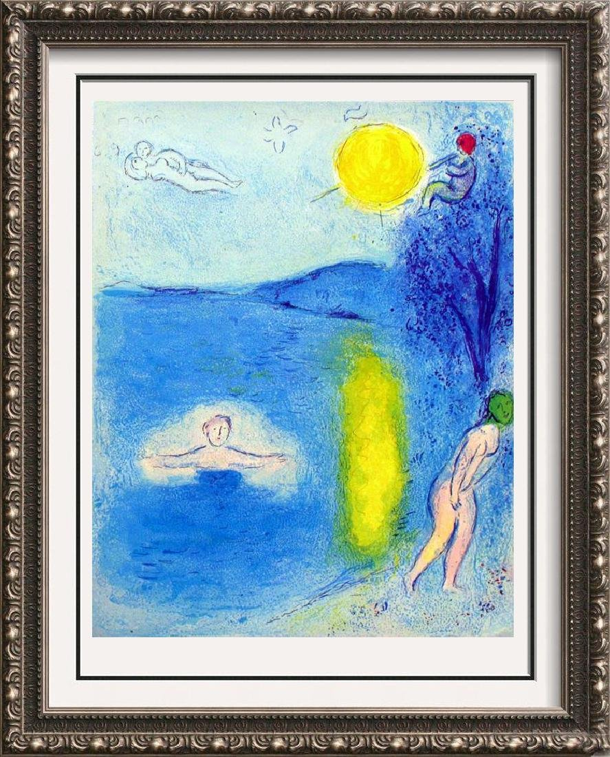 "Colorful Chagall ""After"" Lithograph Dealer Liquidation"