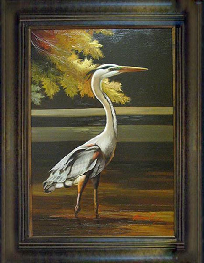 Wildlife BIRD ORIGINAL Realism Landscape Painting