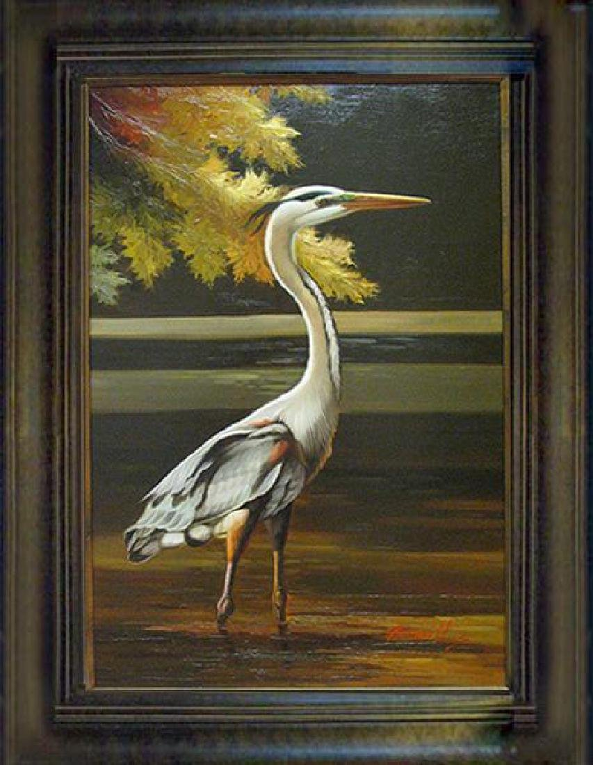 Wildlife BIRD ORIGINAL Realism Landscape Painting