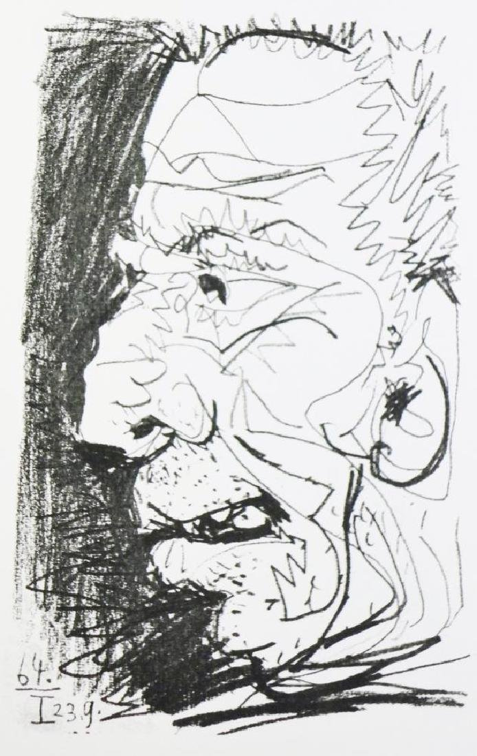 PICASSO PORTRAIT ABSTRACT LINE DRAWING 6.10.64 - 3
