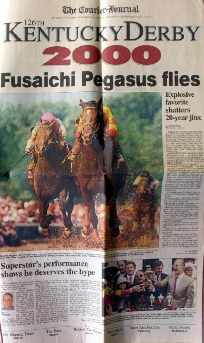 2000 Kentucky Derby Memorabilia Newspaper & Print - 4