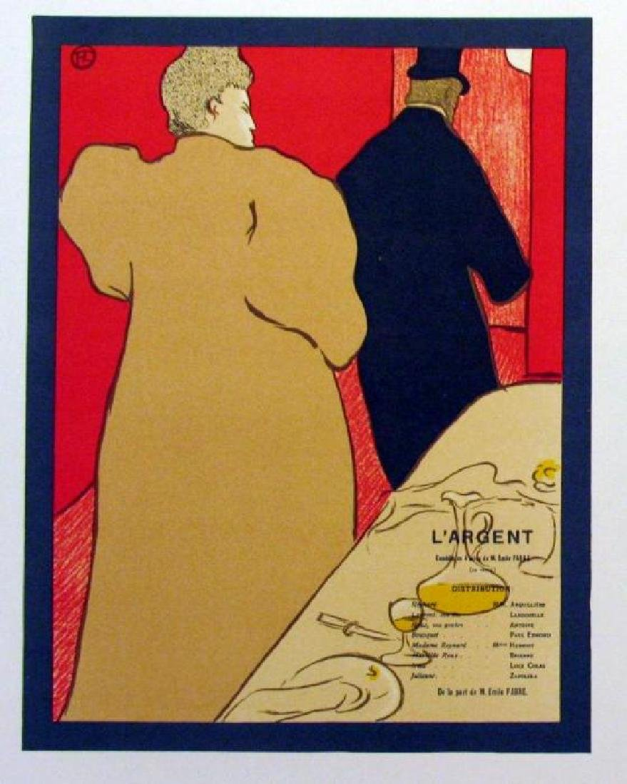 Toulouse-Lautrec Colored Lithograph Plate Signed