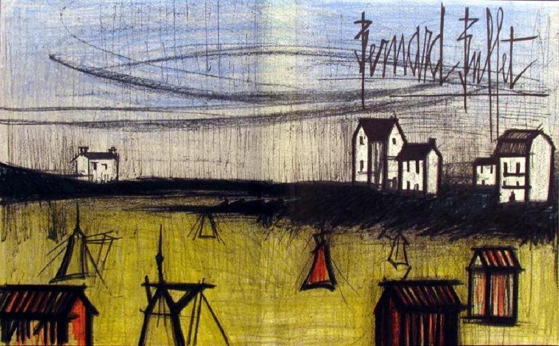 Bernard Buffet Original Colored Double Page Lithograph - 2