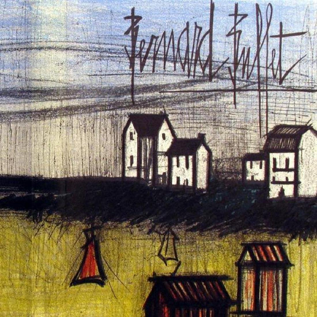 Bernard Buffet Original Colored Double Page Lithograph - 3