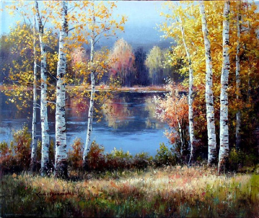 Fantastic Impressionism Canvas Fall Reflections - 2