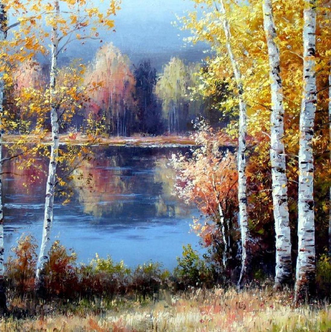 Fantastic Impressionism Canvas Fall Reflections - 3