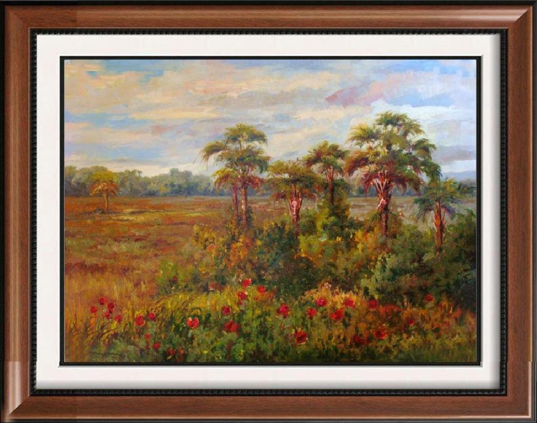 Impressionism Colorful Landscape Painting on Canvas