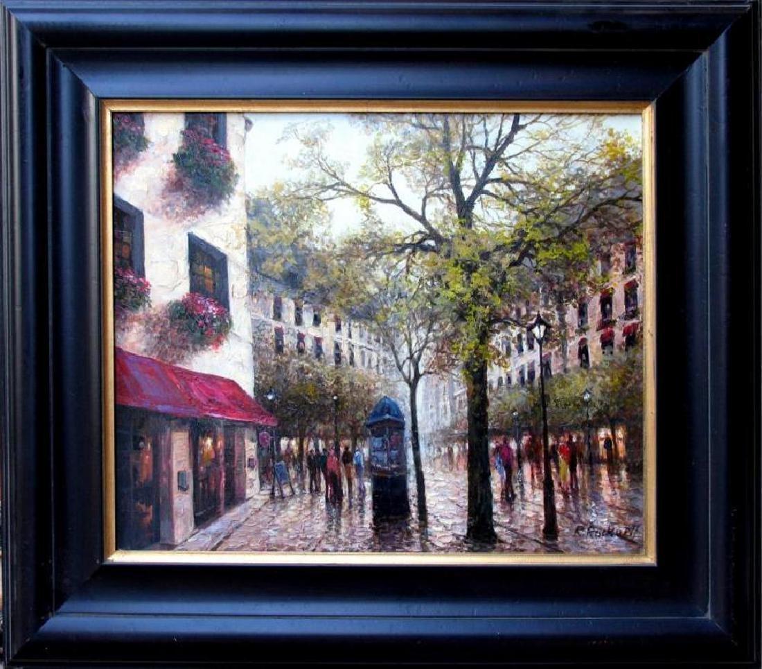 Afternoon in Paris Landscape Impressionism Textured