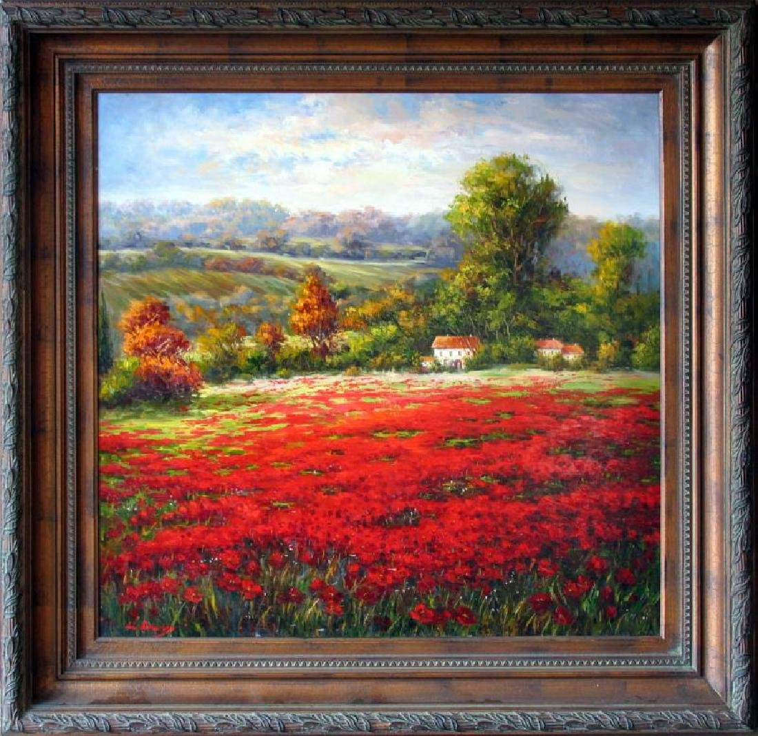 Vibrant RED Rich Colorful Texture Acrylic Original