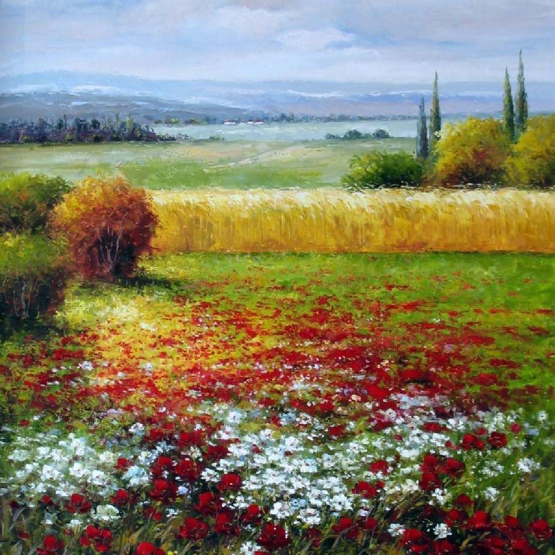 Framed Colorful Italian Vineyard Landscape Framed - 2