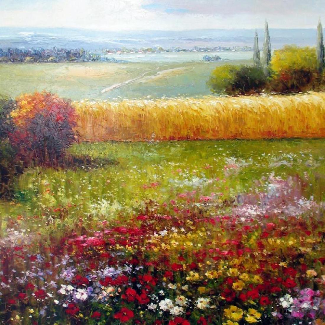 Colorful Floral Landscape Texture Italian Original RARE - 2