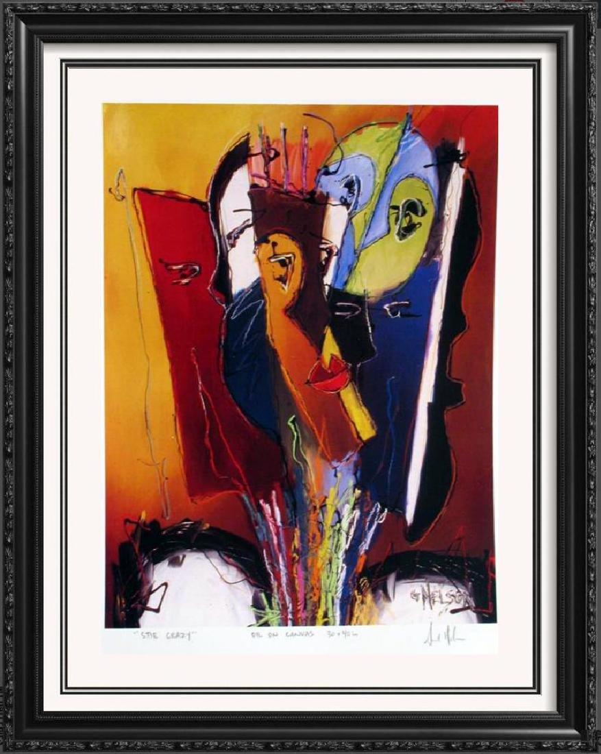 Abstract Modern Art Print Lithograph Sale