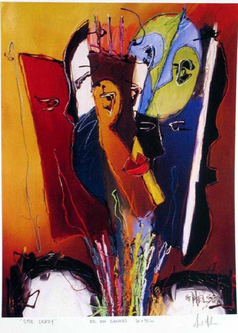 Abstract Modern Art Print Lithograph Sale - 2