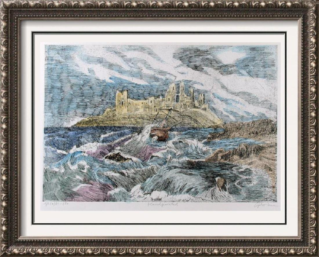 Hand Signed Colored Etching Ocean Scenic Detailed