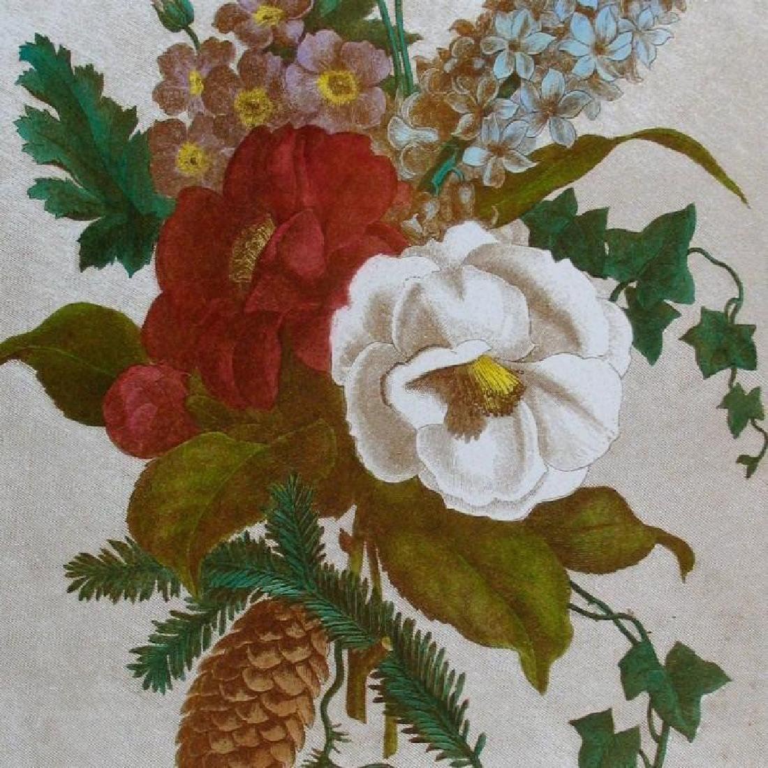 Floral Hand Colored Original Etching Signed & Numbered