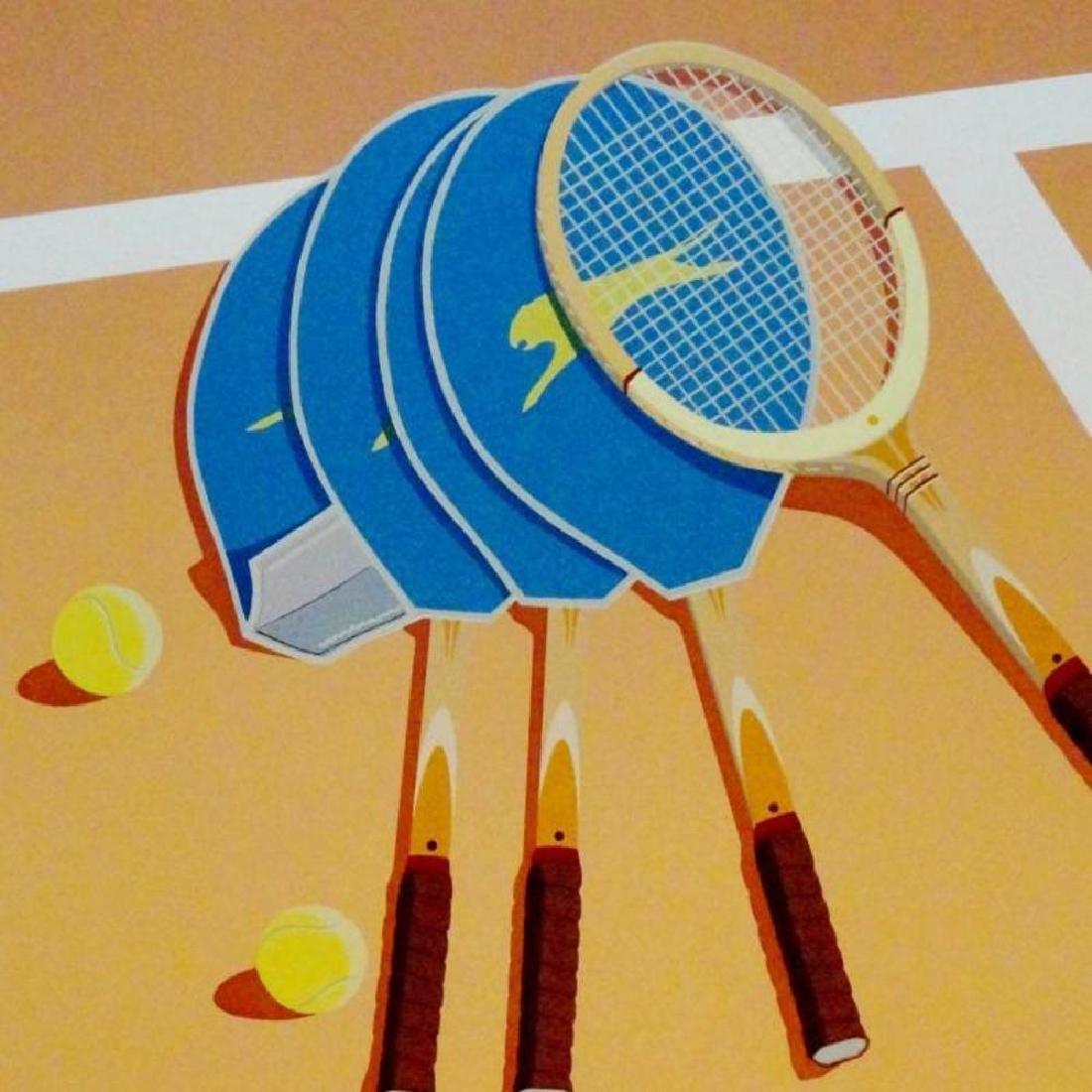 Tennis Lithograph Modern Style Colorful  Signed Limited - 2