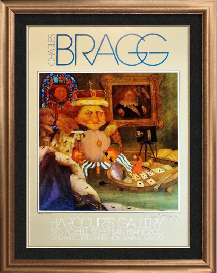Charles Bragg Rare King Of Mes Litho Sale