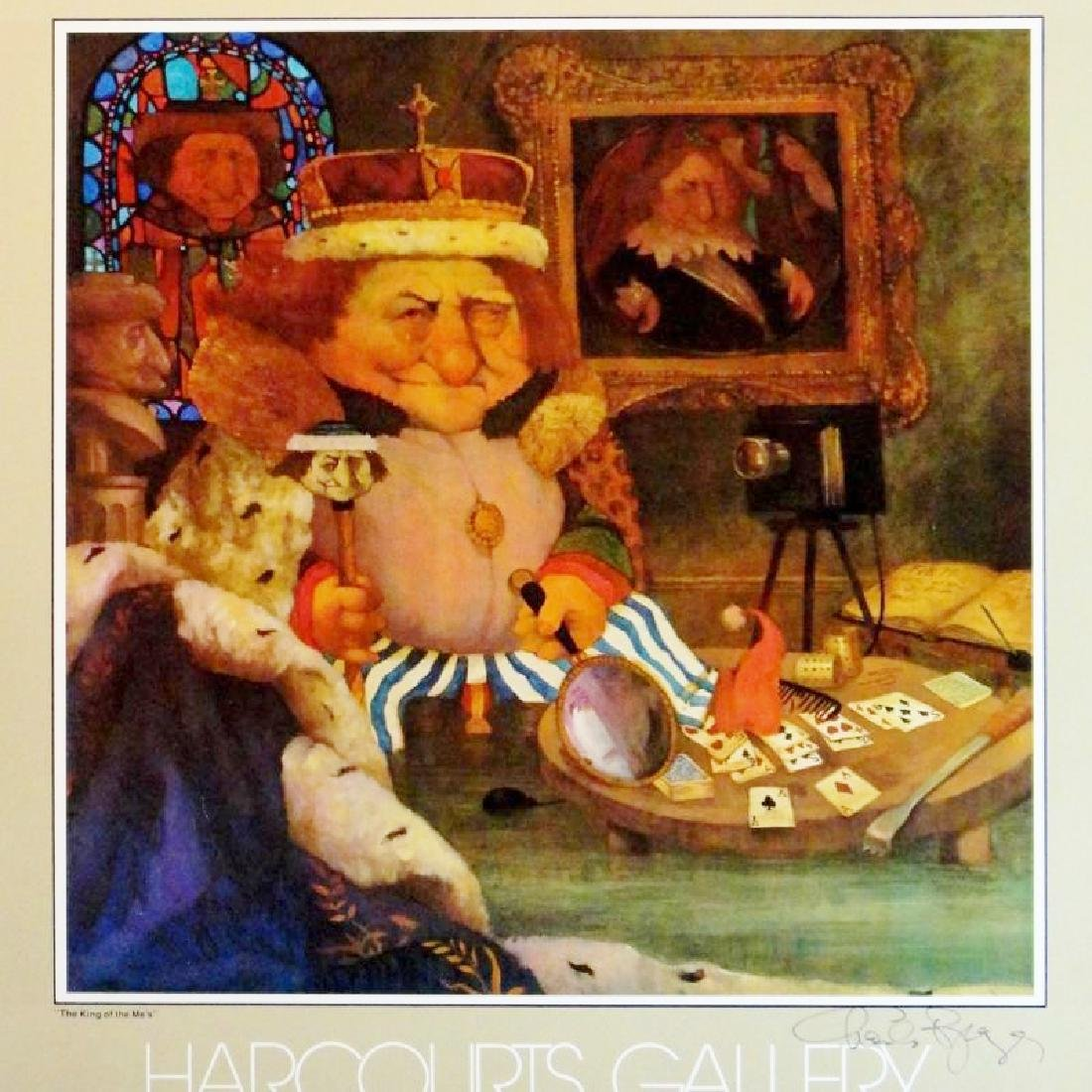 Charles Bragg Rare King Of Mes Litho Sale - 4