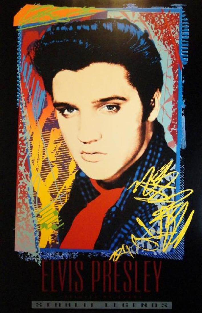 Elvis is King Pop Elvis Print Colorful Abstract Art - 3