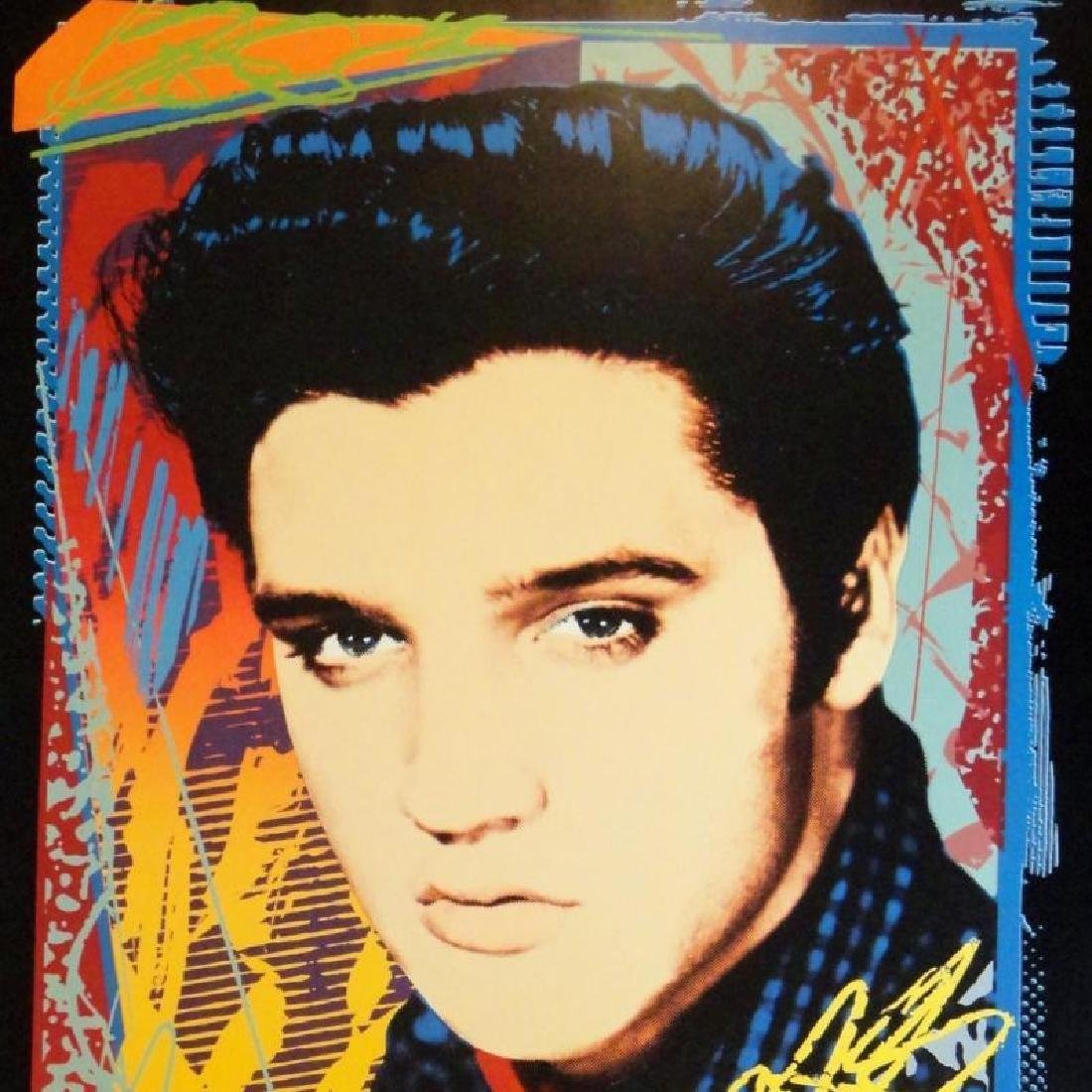 Elvis is King Pop Elvis Print Colorful Abstract Art - 4