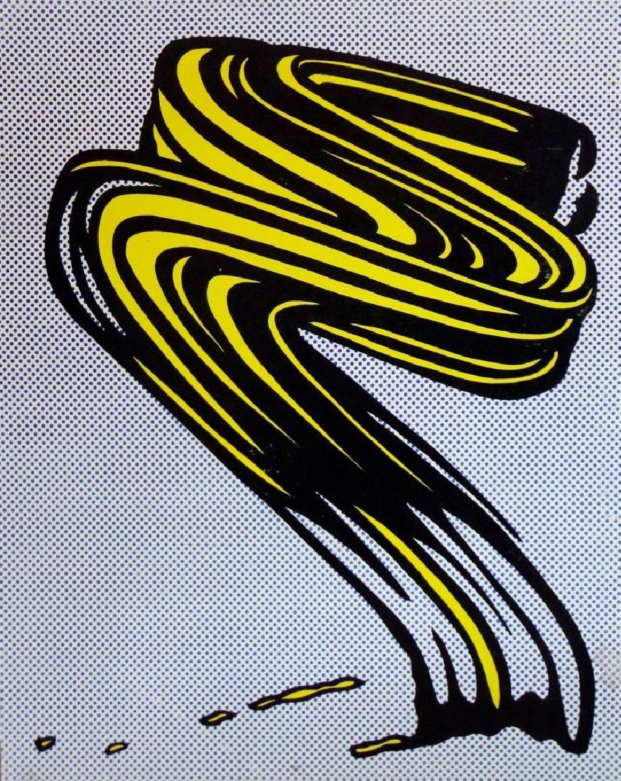 Roy Lichtenstein Brush Strokes Original Lithograph Rare - 2