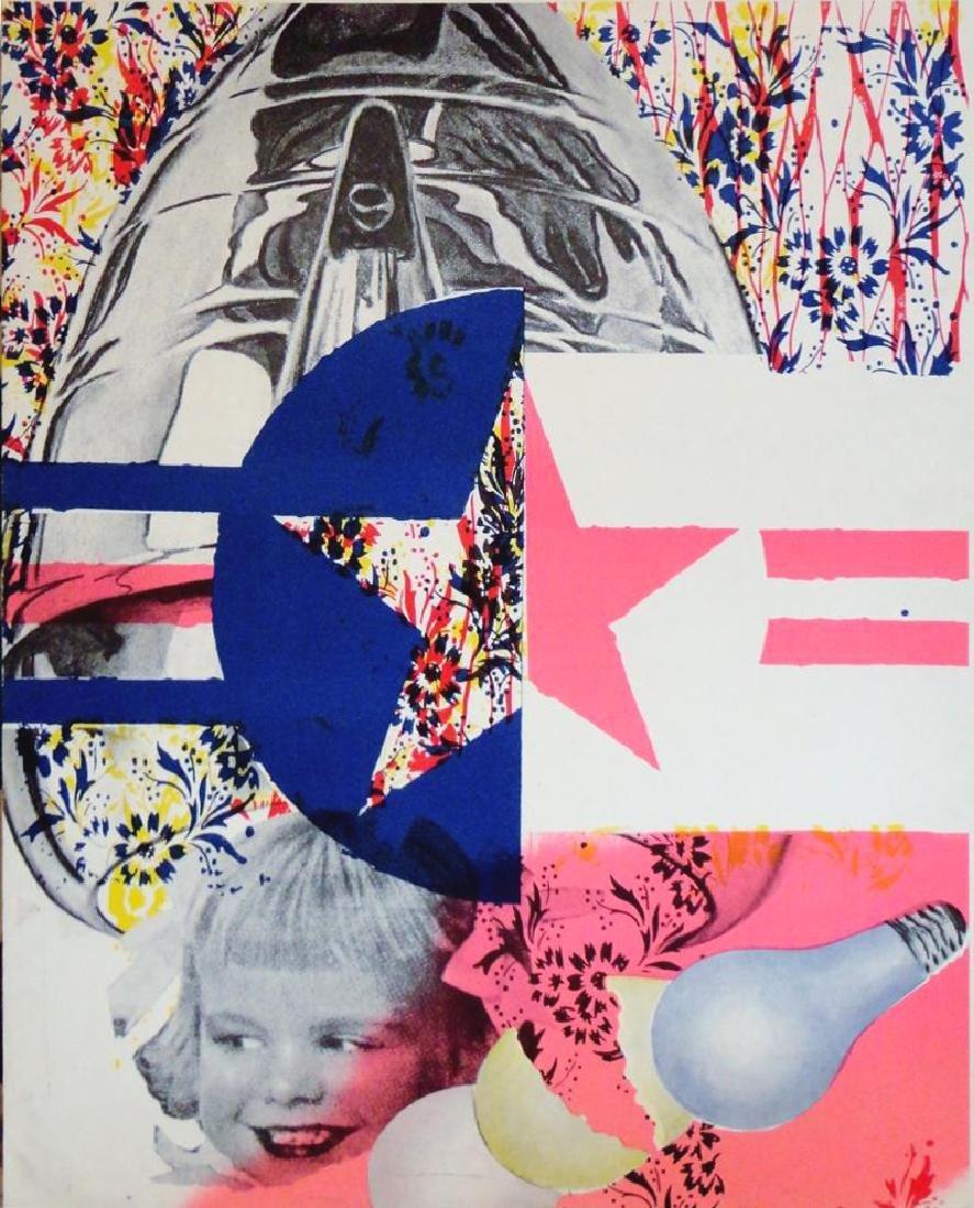 James Rosenquist Rare Original Colored Lithograph Art - 2