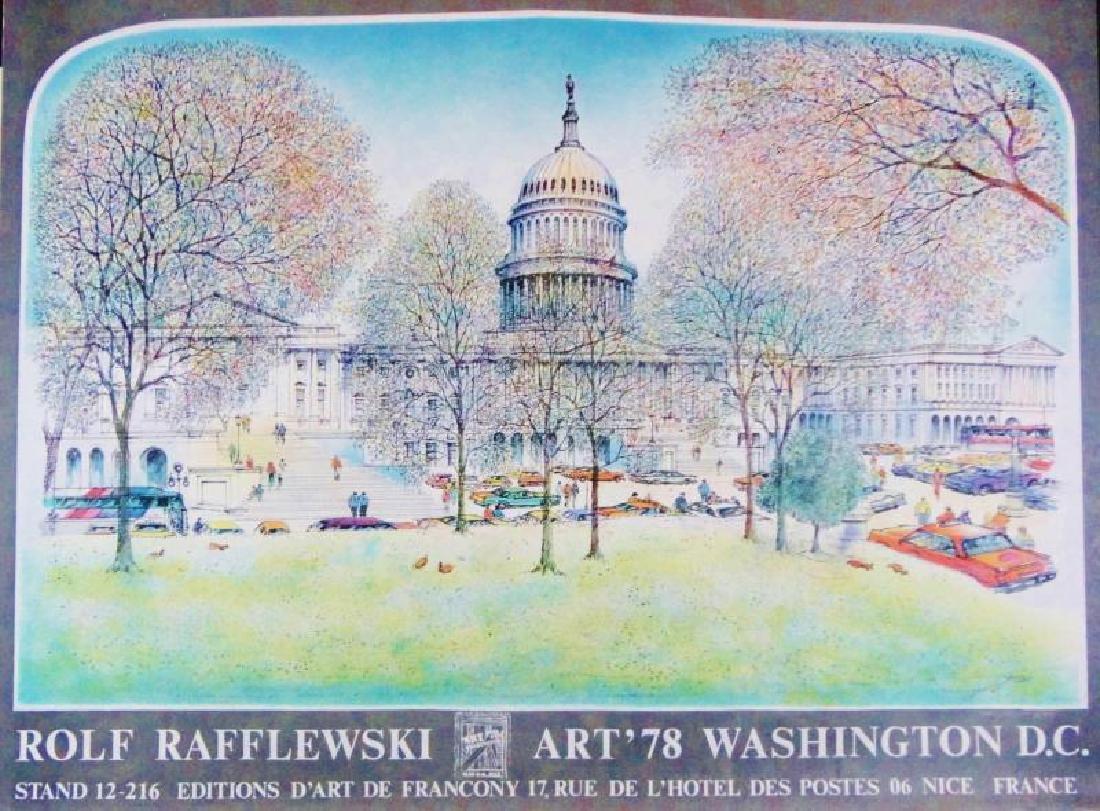 1978 Washington DC Art Print Exhibition Plate Signed