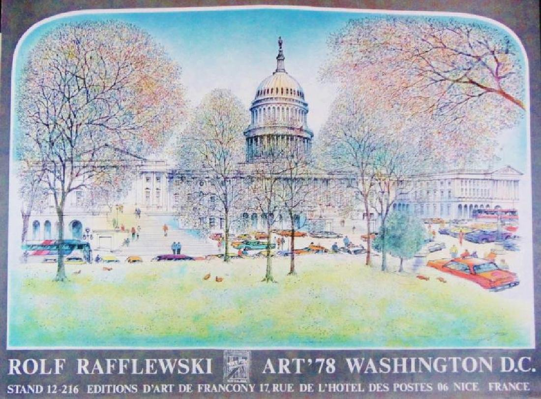 1978 Washington DC Art Print Exhibition Plate Signed