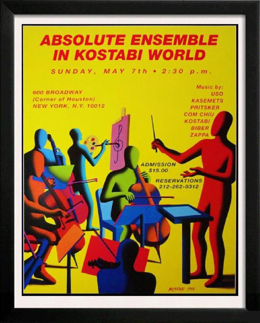Kostabi Absolute Vodka Poster Rare Find Pop Lovers