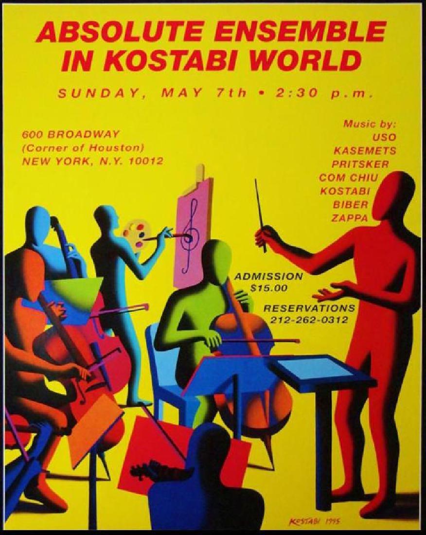 Kostabi Absolute Vodka Poster Rare Find Pop Lovers - 3