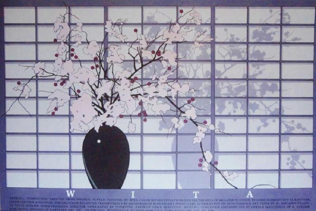 Asian Style Print Floral Purple Violet Colors - 3