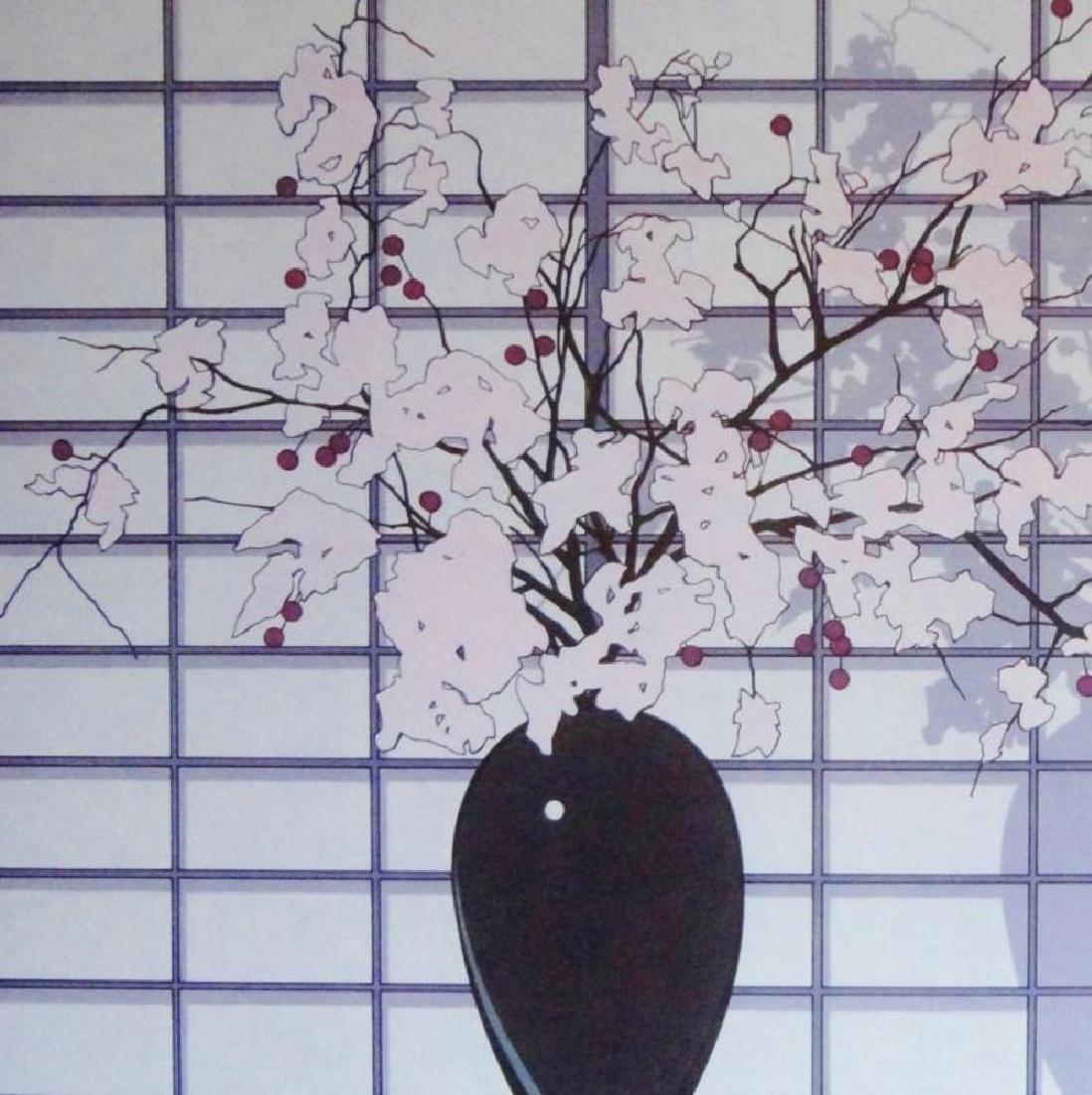 Asian Style Print Floral Purple Violet Colors - 4