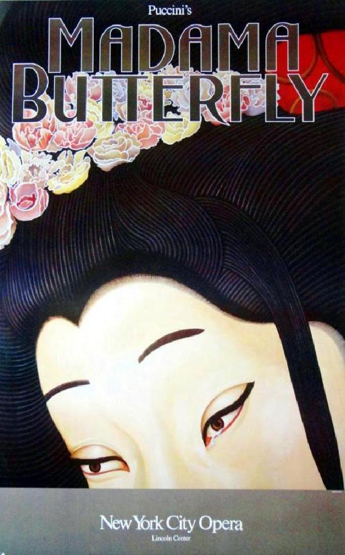 Madama Butterfly Colorful Asian Style Theatre Print - 2