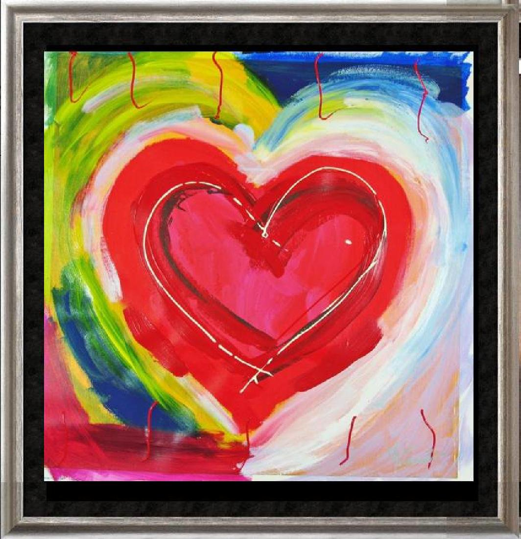 Pop Canvas Heart Series Signed Original Mixed Media