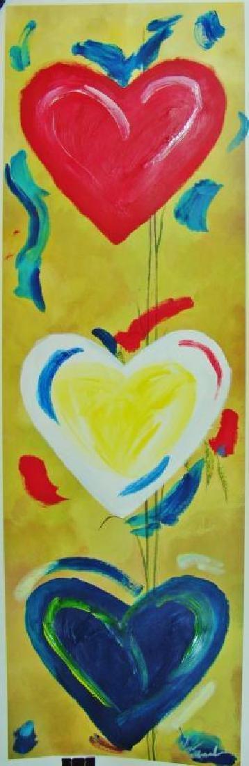 Pop Canvas Heart Series Signed Original Mixed Media - 2