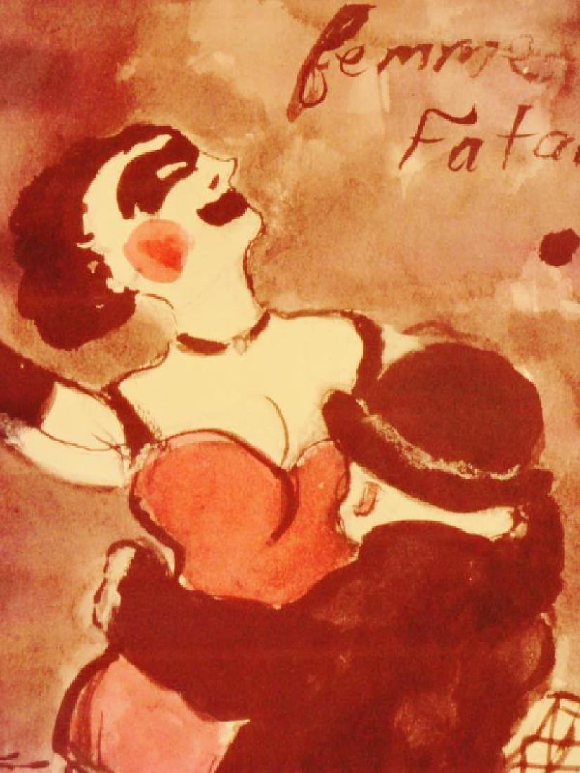 Femme Fatale NYC Giclee on Canvas - 2