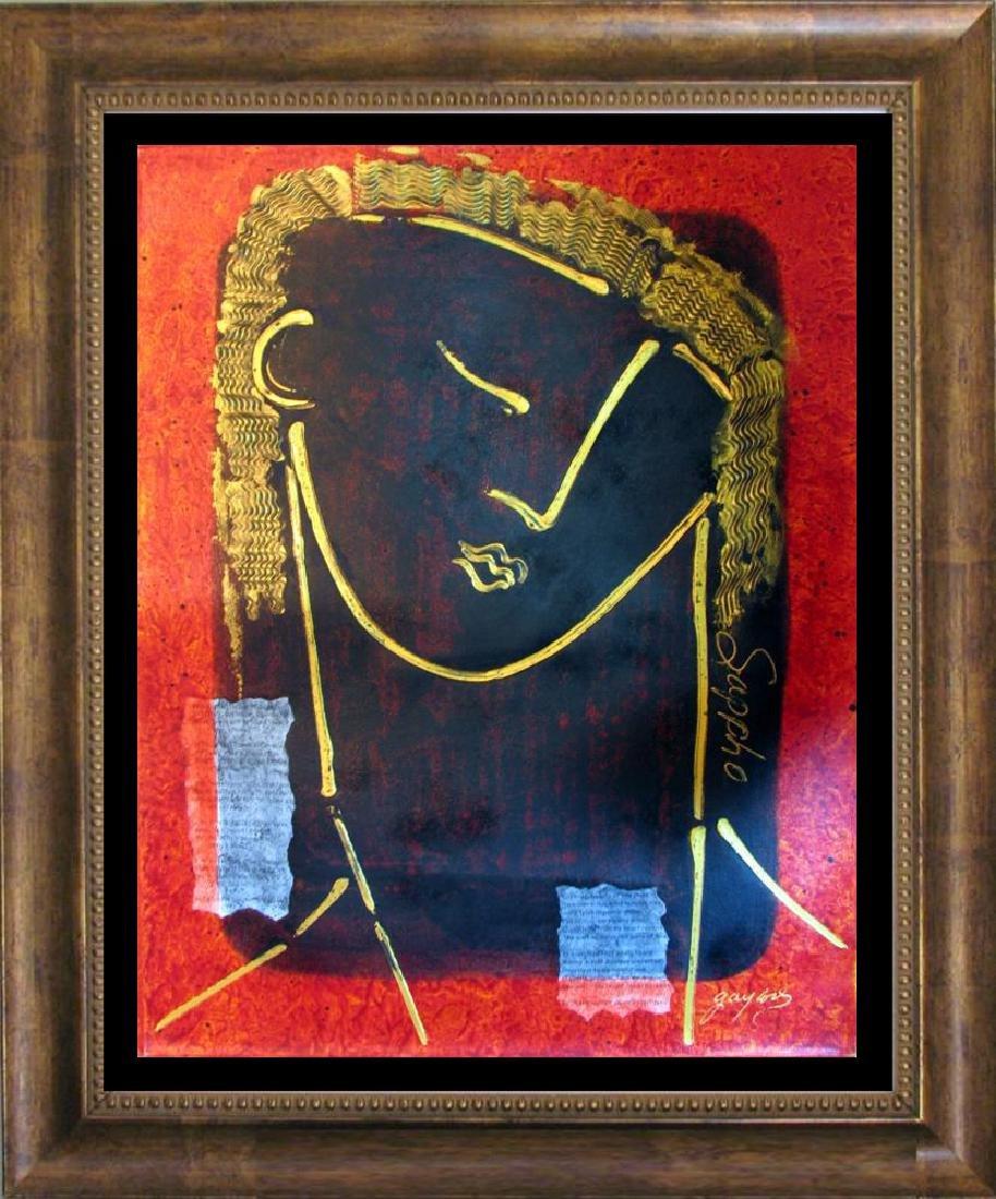 Musical Sappho Original Painting Dramatic Abstract Art