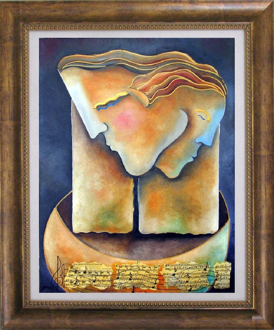 Male Female Figures Abstract Modern Ready To Hang