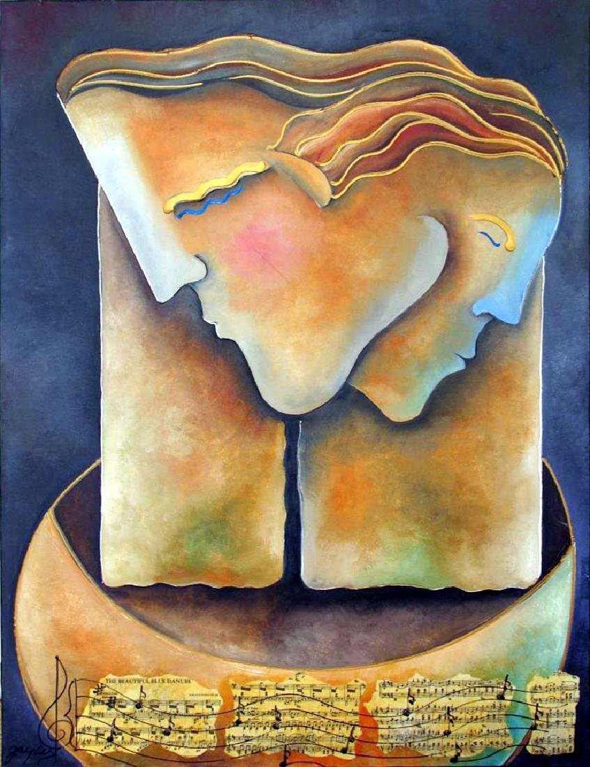 Male Female Figures Abstract Modern Ready To Hang - 2