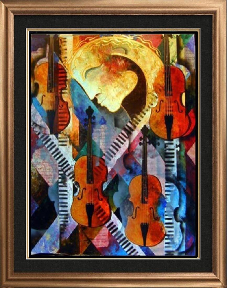 Violins of Mozart Abstract Colorful Canvas Modern Art