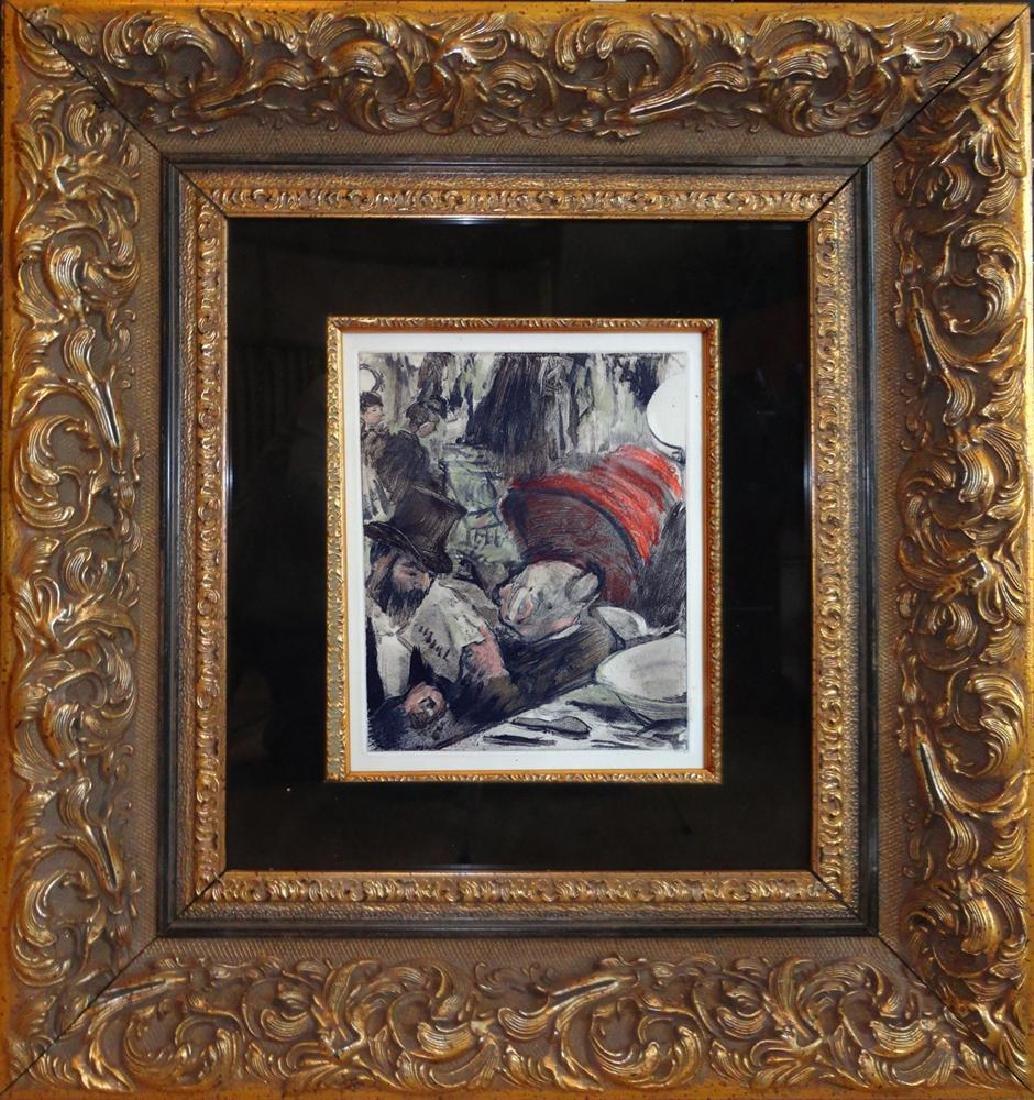 Edgar Degas Ludovic Halevy et Madame Cardinal Ref: